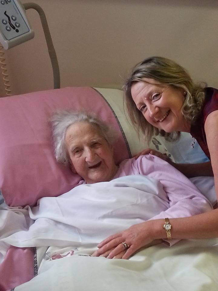 Mai Tallent on her 99th Birthday with her daughter Ben